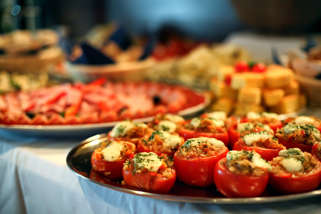 Catering image of stuffed tomatoes